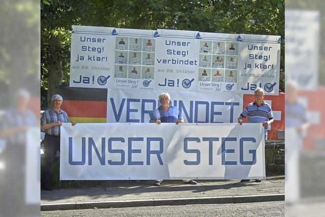 Verein Pro Steg wirbt mit Plakaten