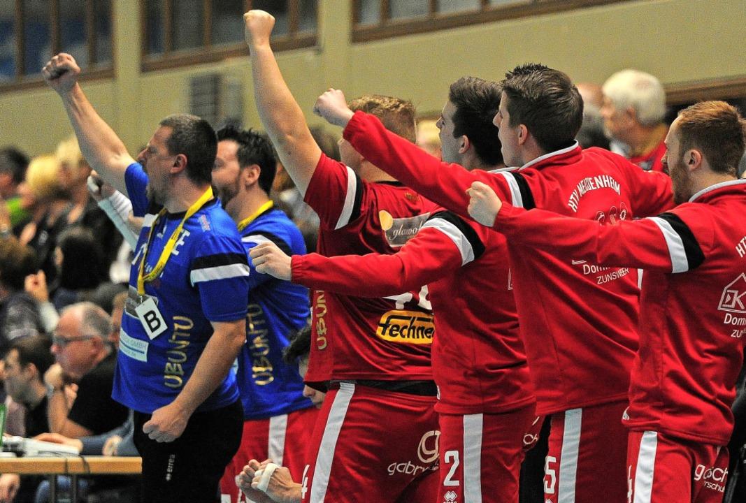 Jubeln durften die Meißenheimer Handballer in der vergangenen Runde häufig.   | Foto: BePressebüro ttina Schaller