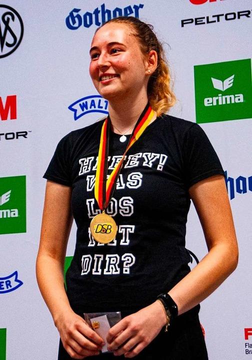 Kim Schladebach gewinnt im Kleinkalibe...chen Meistertitel für den Heitersheim.  | Foto: privat