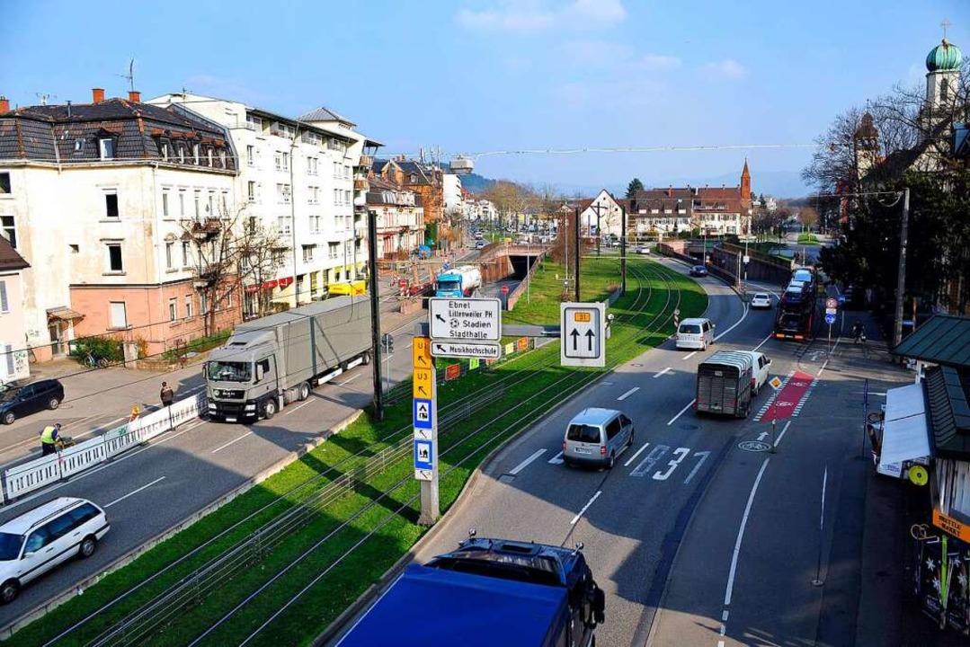 Der Stadttunnel soll sich dereinst auf...n den Schützenalleetunnel anschließen.  | Foto: Thomas Kunz