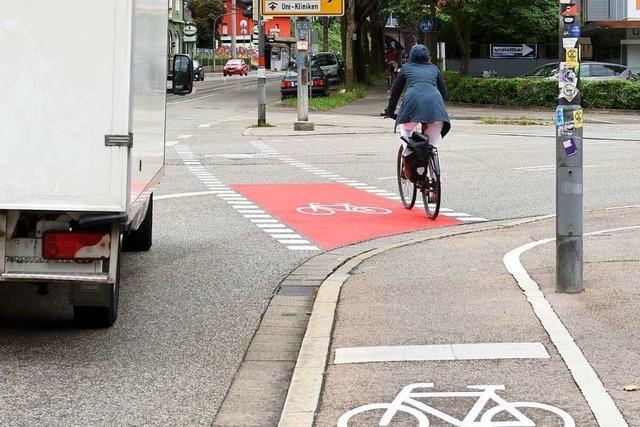 Radspur an der Zähringer Straße besser gekennzeichnet