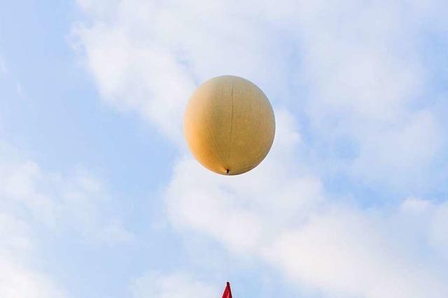 Der Wetterballon von Offenburger Hochschülern stieg bis auf 30.798 Meter