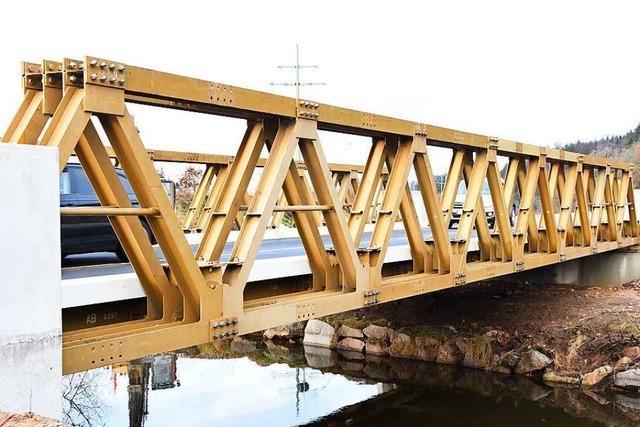Ab Freitag rollt der Verkehr über die neue Brücke auf der B317 bei Maulburg