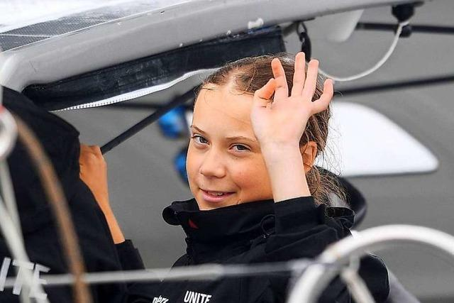 Greta Thunberg vor Freiheitsstatue in New York eingetroffen