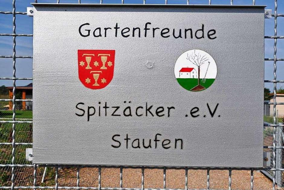 Schild am Eingang zum Gartengelände (Foto: Rainer Ruther)