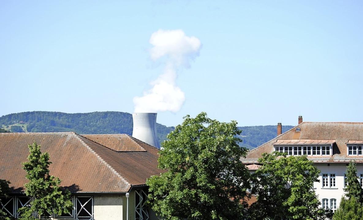 Die Dampfwolke des Schweizer Kernkraft...us in Waldshut ist  weithin zu sehen.   | Foto: Schlichter, Juliane