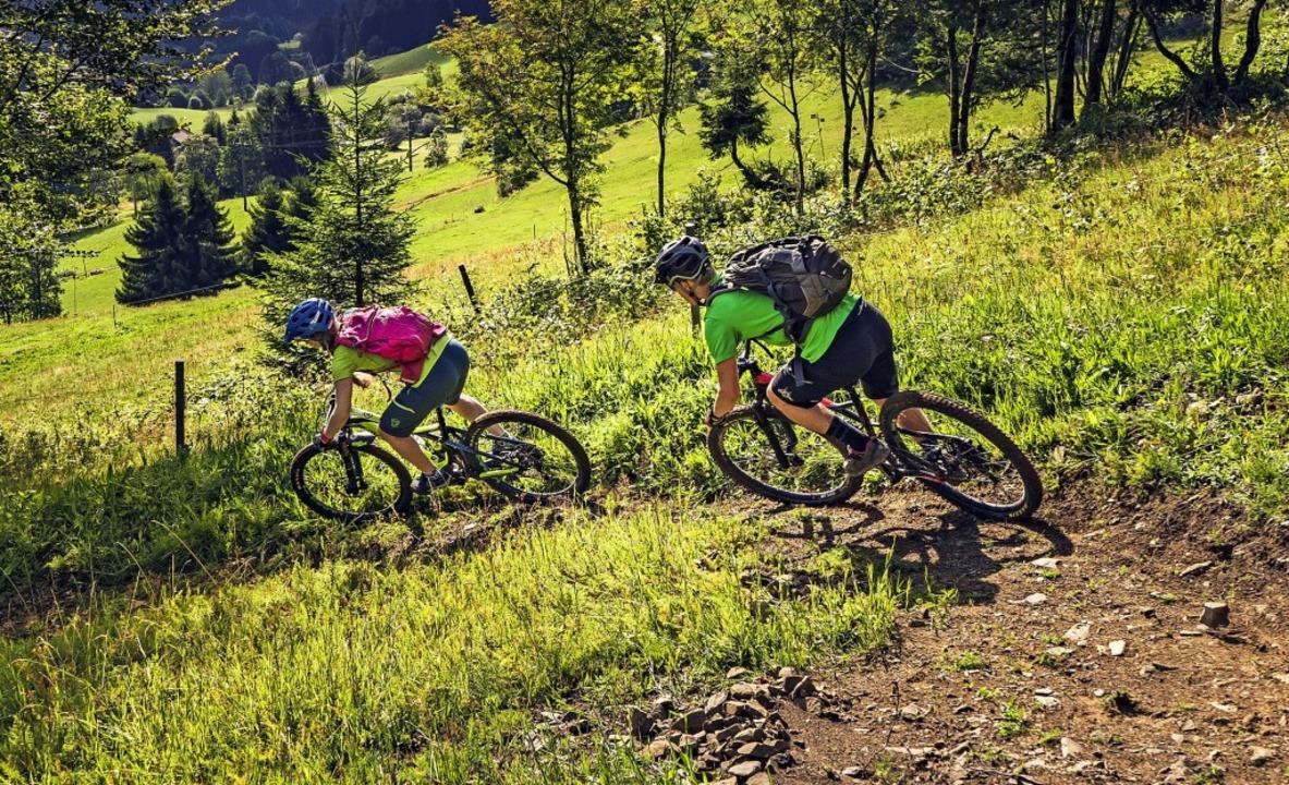 Der neue Todtmoos-Trail bietet viel Sp...egerin und Weltmeisterin Sabine Spitz.  | Foto: privat