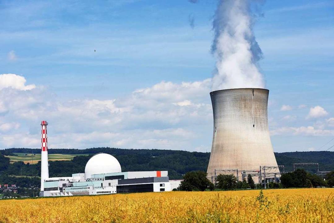 Das Atomkraftwerk Leibstadt ist zwei K...tlinie von  Waldshut-Tiengen entfernt.  | Foto: Patrick Seeger