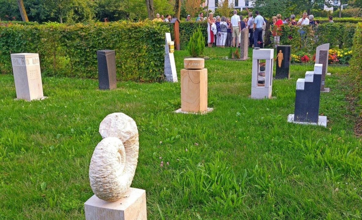 "Feld 23 auf dem Hauptfriedhof ist das sogenannte ""Stelenfeld"".   | Foto: Julia Littmann"