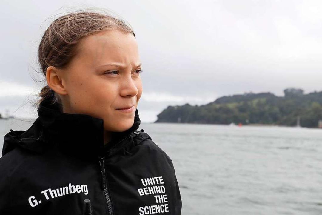 Klimaaktivistin Greta Thunberg auf der Hochseejacht Malizia II    Foto: Kirsty Wigglesworth