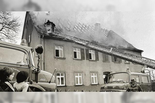 Das erste Krankenhaus in Flammen