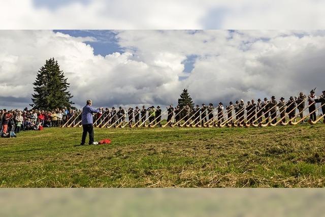 Großes Event am Feldberg: Internationale Alphornmusik und regionale Genüsse beim Naturpark-Markt