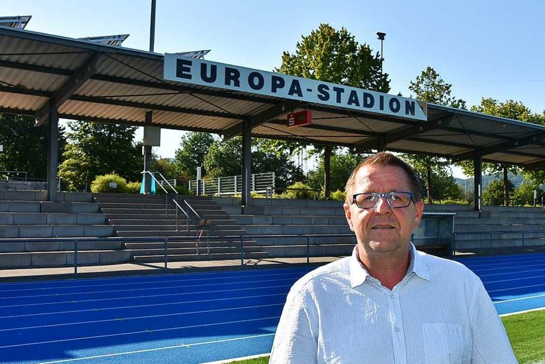 Dieter Wild hofft, dass im Europastadion viele Tore fallen werden.    Foto: Heinz und Monika Vollmar