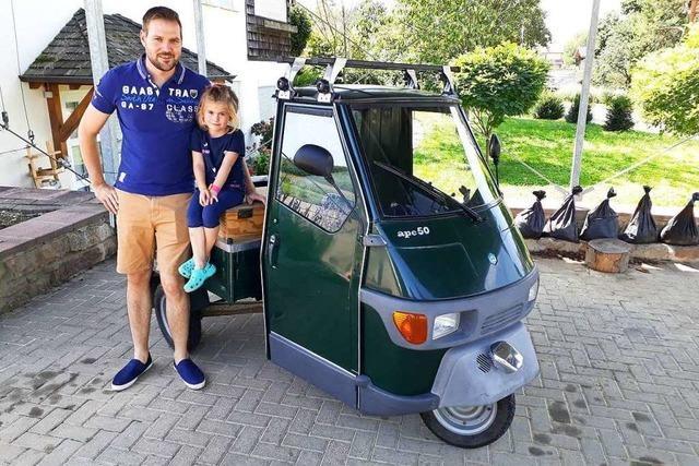 Stefan Medam ist mit seinem dreirädrigen Ape 900 Kilometer durch Deutschland gefahren