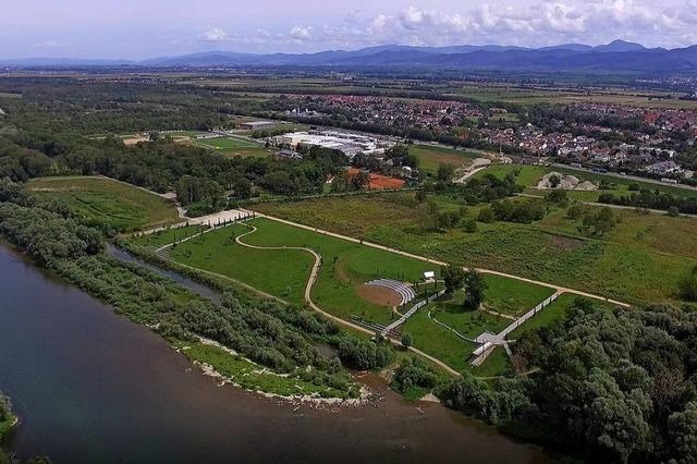 Beginn der Bauarbeiten für die Landesgartenschau 2022 in Neuenburg