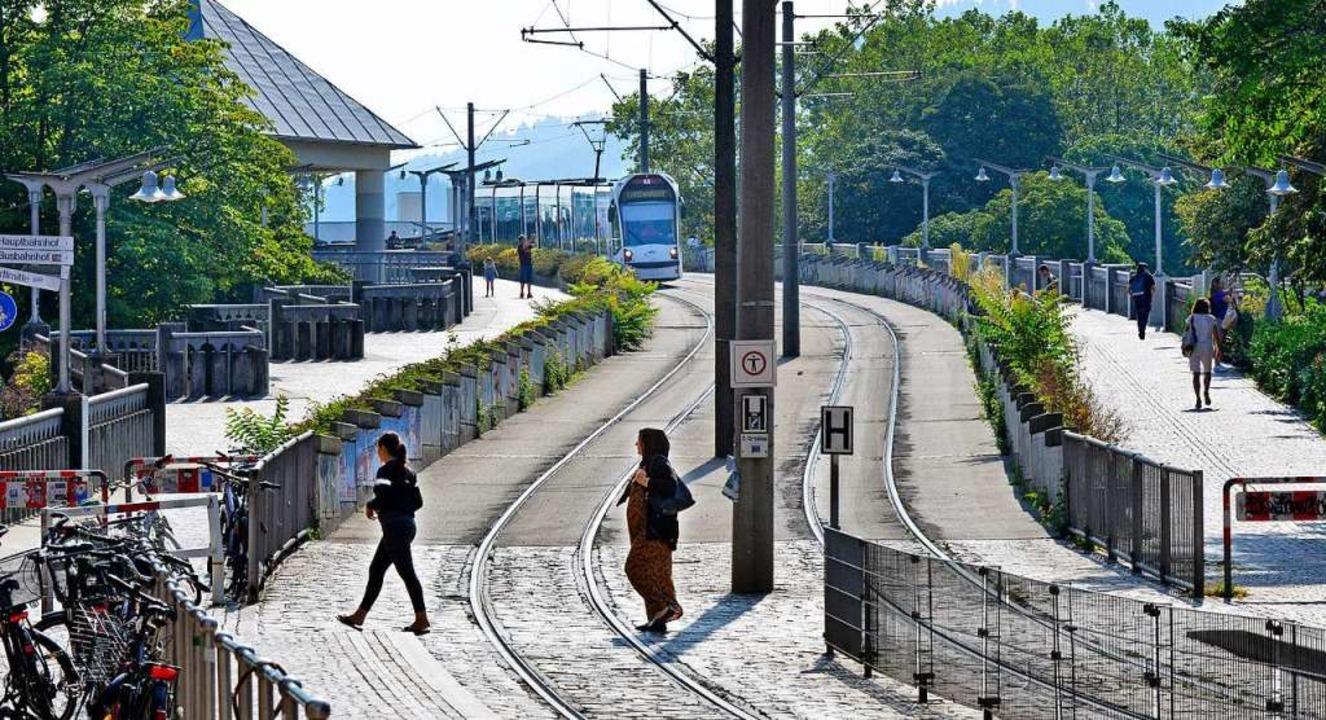 Bauabschnitt eins wird ab 7. Oktober d...e Rampe auf die Stadtbahnbrücke sein.   | Foto: Michael Bamberger