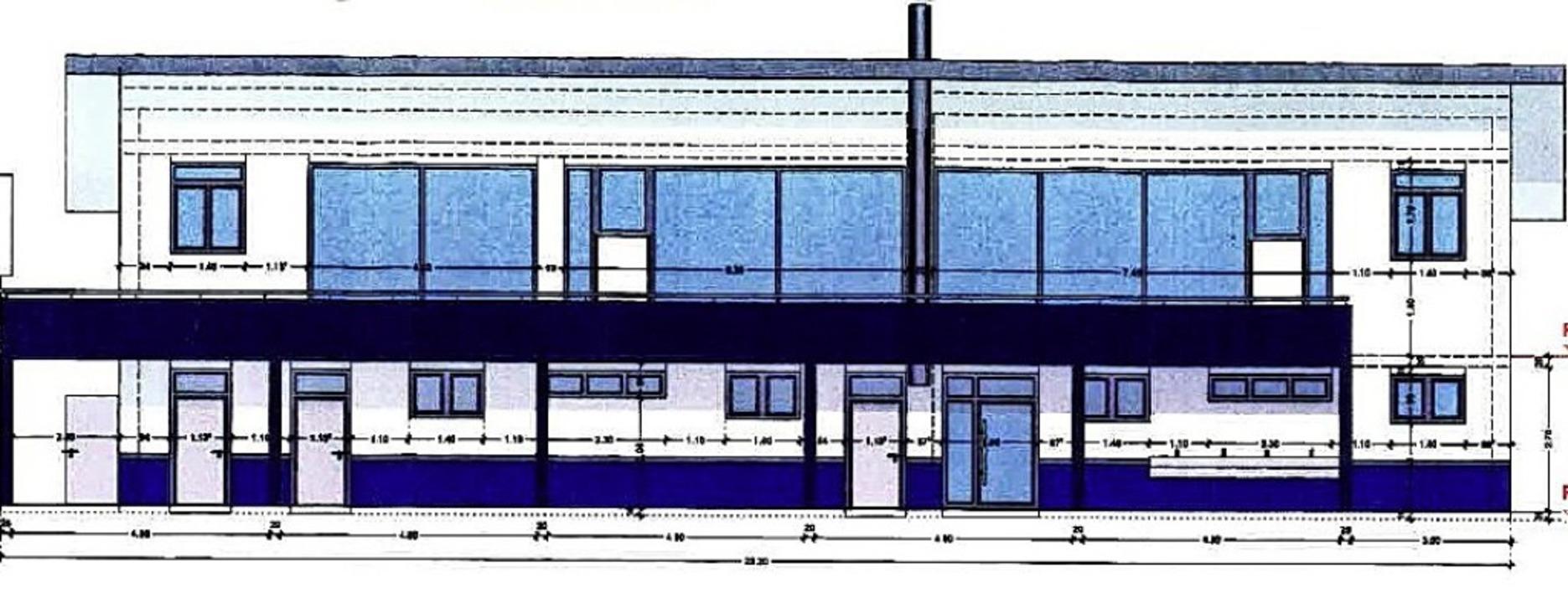 So wird das neue Vereinsheim aussehen.     Foto: Privat