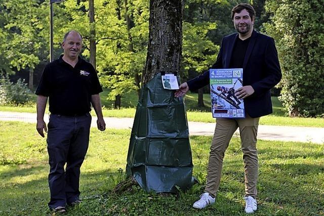 Wassersäcke für die Bäume