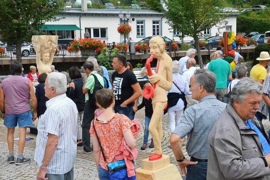 Eindrücke vom Bildhauersymposium in St. Blasien. (Foto: Sebastian Barthmes)
