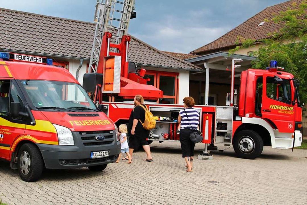 Immer interessant: Feuerwehrautos  | Foto: Theresa Ogando