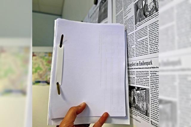 Blöcke aus Druckerpapier