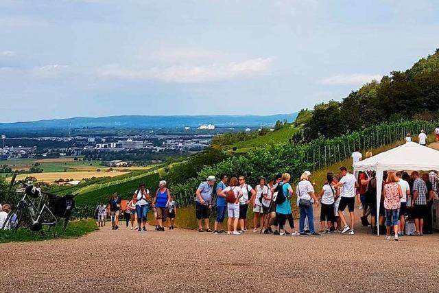 Auf der Weinwanderung von Wolfenweiler nach St. Georgen wurde gefeiert und verkostet