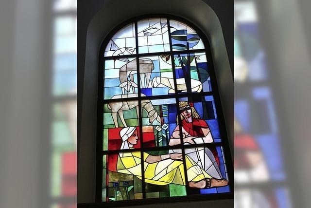 Die Markgräflerin im Rathausfenster