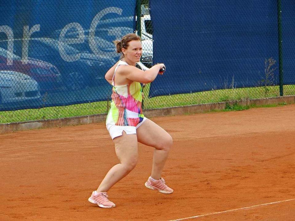 Kerstin Schwendenmann vom  TC Ettenhei.... Ettenheimer Leistungsklassenturnier.    Foto: Ralph Furtwängler