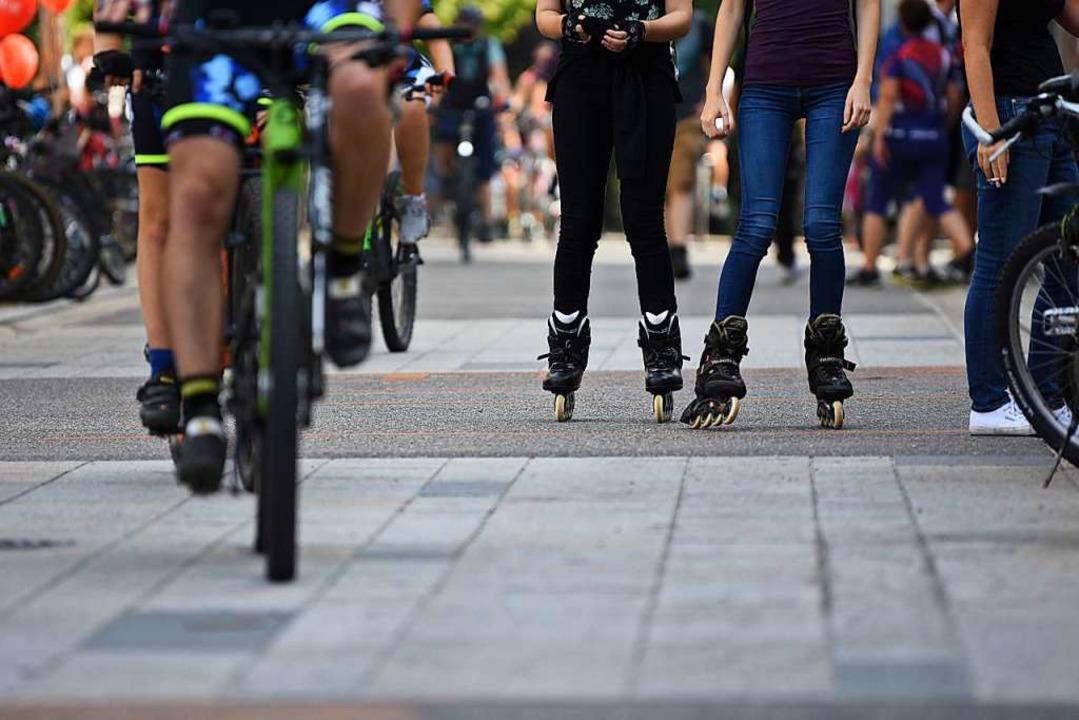 Die Straßen sind für den nicht motorisierten Verkehr reserviert.  | Foto: Jonas Hirt
