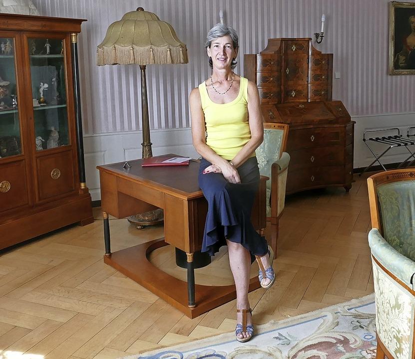 Gabriele Schimpf im 53 Quadratmeter gr...ie Schauspielerin Katharina Thalbach.   | Foto: Ralf Burgmaier