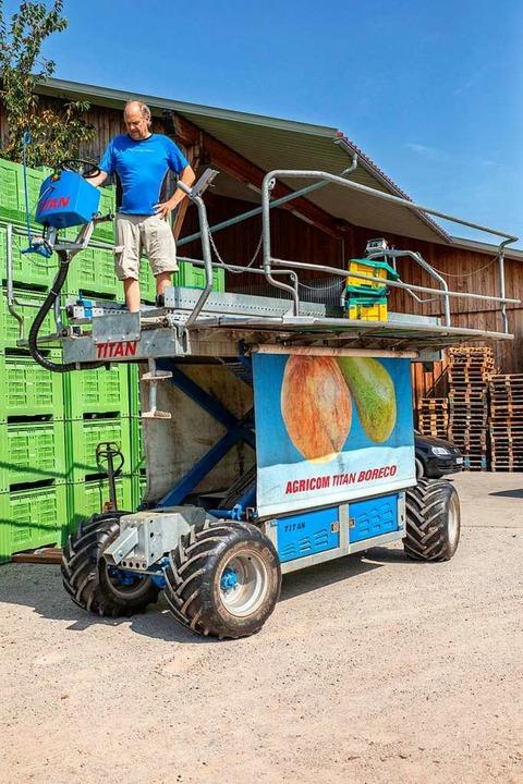 Titan heißt diese Erntemaschine.  | Foto: Hubert Gemmert