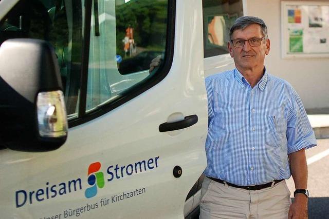 Eine Busfahrt mit dem neuen Bürgerbus in Merzhausen