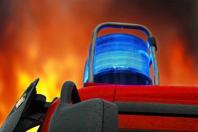 In Rheinau brennt eine Scheune ab – Nachbarsfamilie rettet sich rechtzeitig