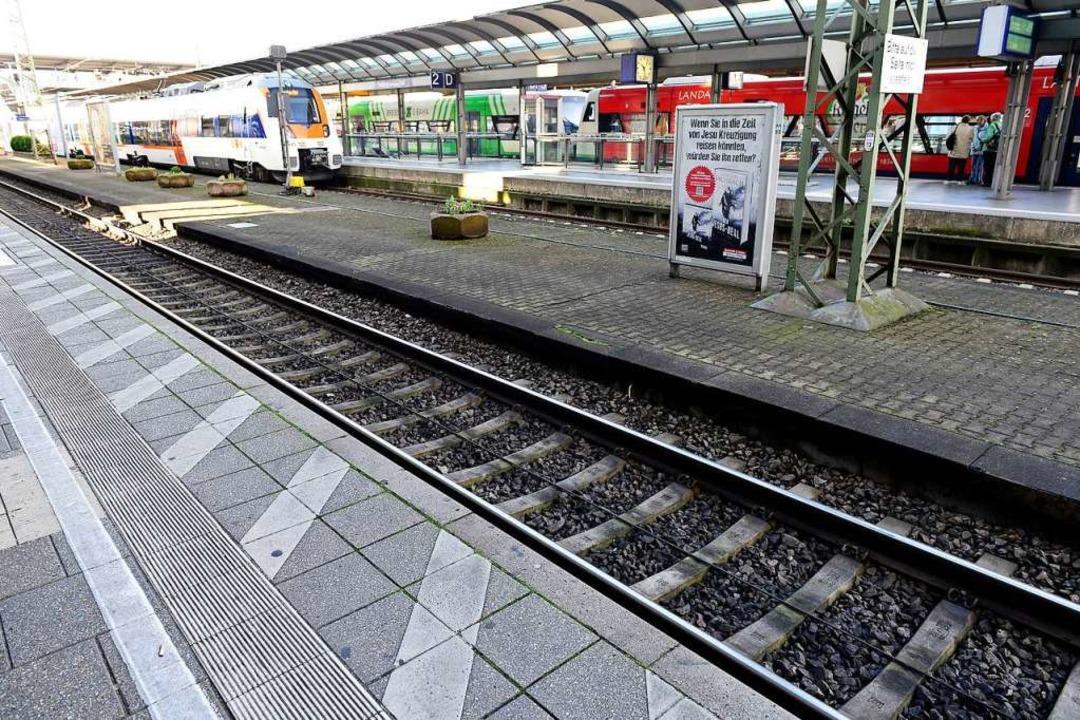 Wenig los sein wird am Wochenende auf dem Freiburger Hauptbahnhof  | Foto: Ingo Schneider
