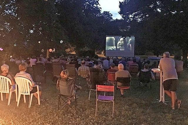 Isteiner genossen den Kinoabend im Park