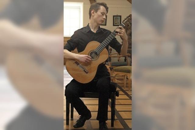 Gitarrenkunst im Schlössle