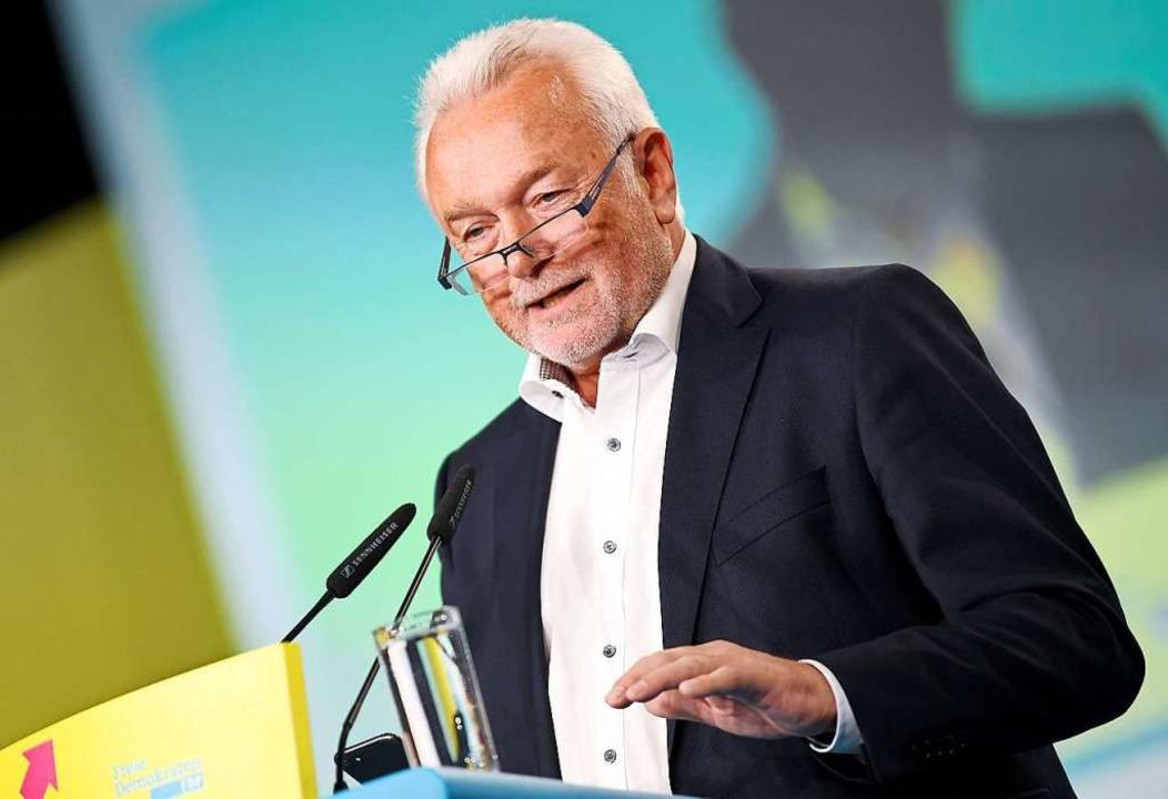 FDP-Politiker Wolfgang Kubicki gehört ...e mit den AfD-Wählern offener umgehen.  | Foto: Britta Pedersen (dpa)