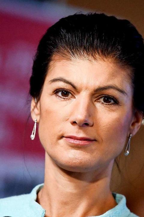 Noch-Linken-Fraktionschefin Sahra Wage...auschal als rassistisch beschimpften.   | Foto: Britta Pedersen