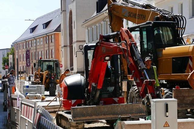 Ende September soll die Basler Straße in Lörrach endlich fertig sein