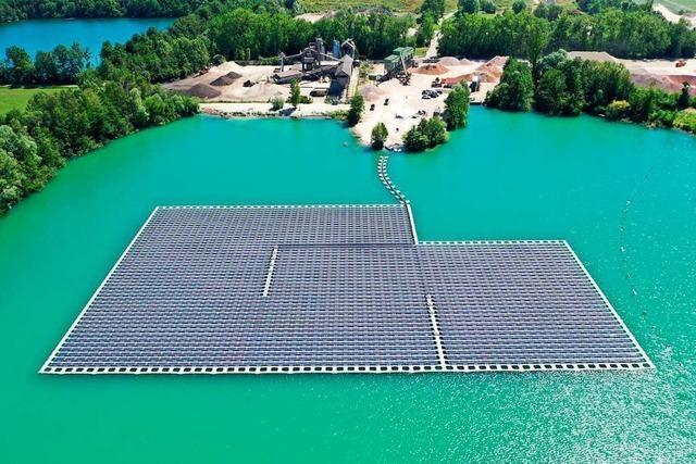 Umweltminister will Baggerseen für Photovoltaik nutzbar machen
