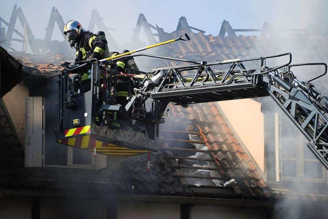 Bei dem Brand in Schiltigheim kam ein Kind ums Leben.  | Foto: FREDERICK FLORIN (AFP)