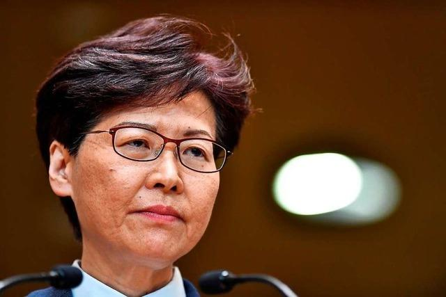 Hongkongs Regierungschefin: Auslieferungsgesetz wird zurückgezogen
