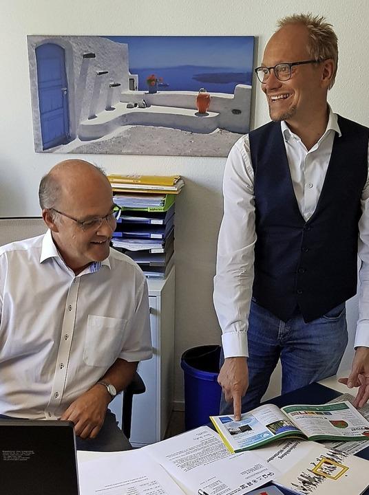 Meinhard Schamotzki (links) übernimmt den Vorsitz von Rainer Leweling.     Foto: Gerhard Walser
