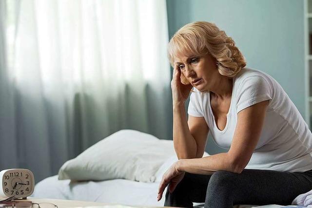 Frauen in der Menopause haben häufig mit Schlafstörungen zu kämpfen