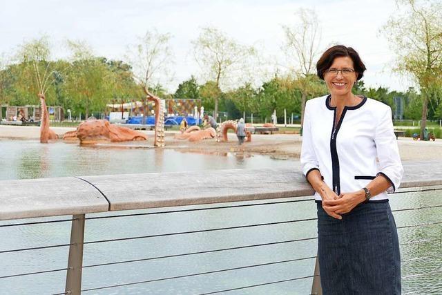 Rundgang mit den Kandidaten: Christine Buchheit will den Blick ins Grüne bewahren