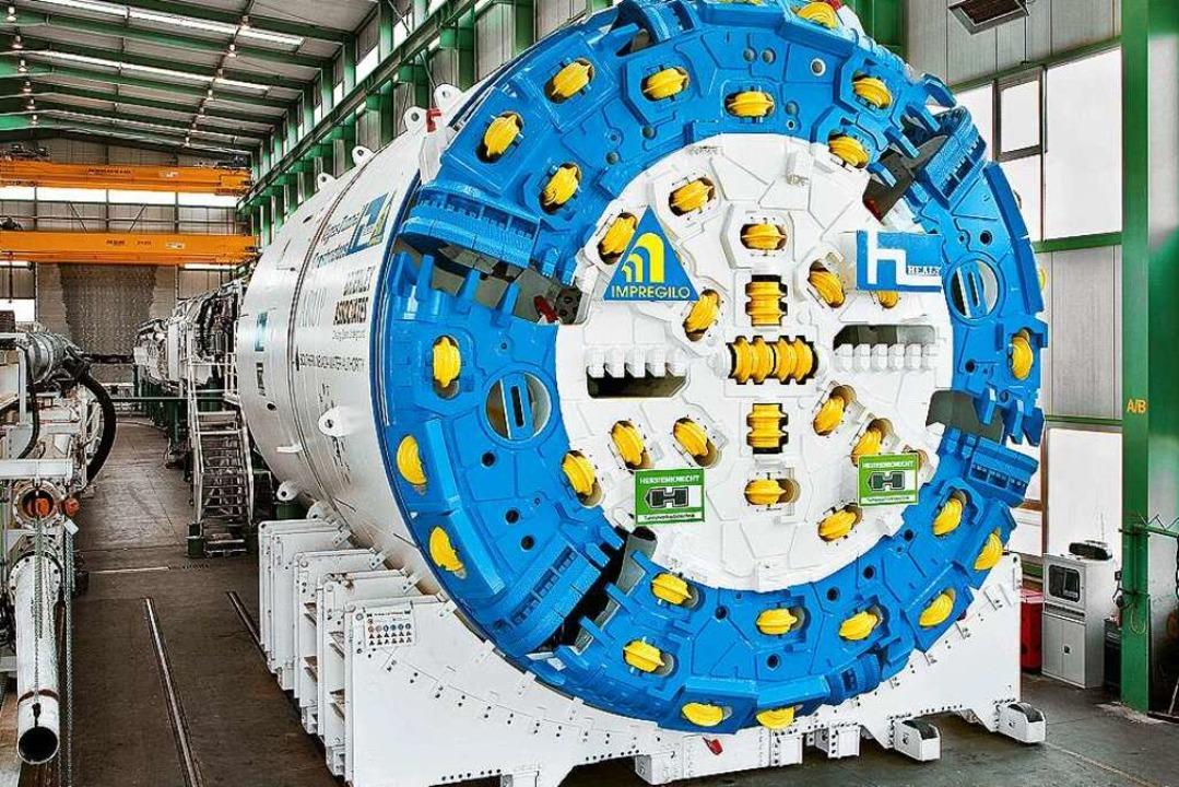 Eine Tunnelvortriebsmaschine soll die beiden Röhren graben.  | Foto: Herrenknecht
