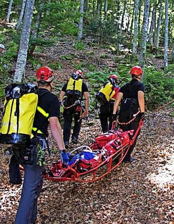 Die Bergwacht und andere Rettungsorganisationen zeigten  einen Übungseinsatz.   | Foto: Florian Guldenfels