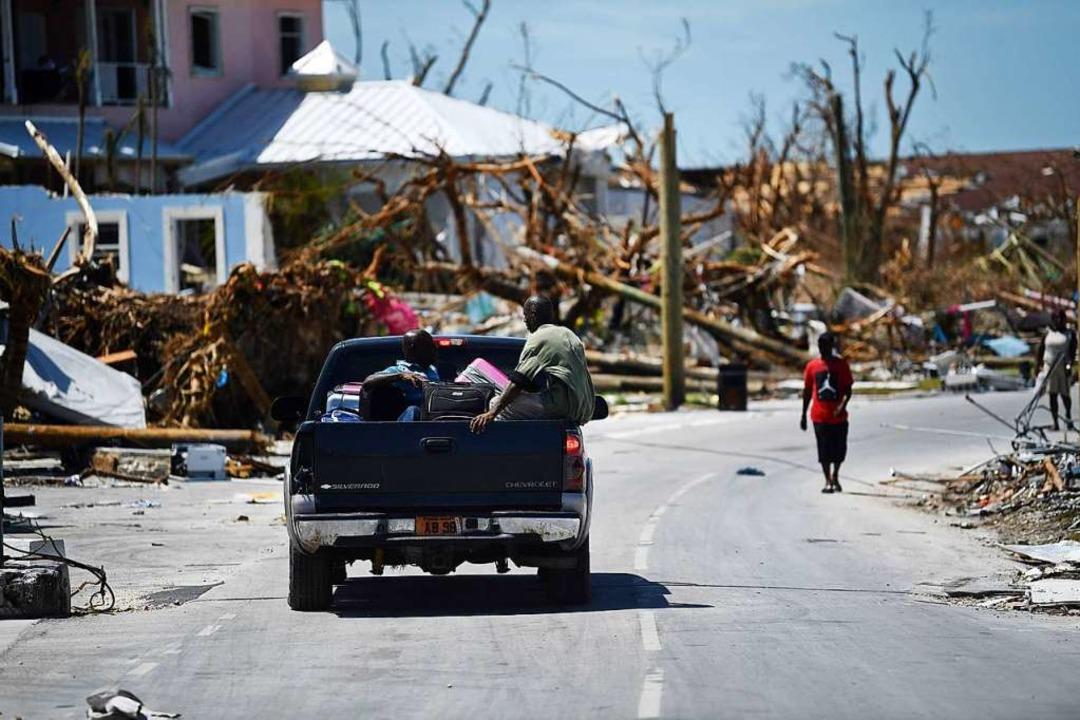 Der Hurrikan Dorian hat die Bahamas verheerend getroffen.  | Foto: BRENDAN SMIALOWSKI (AFP)