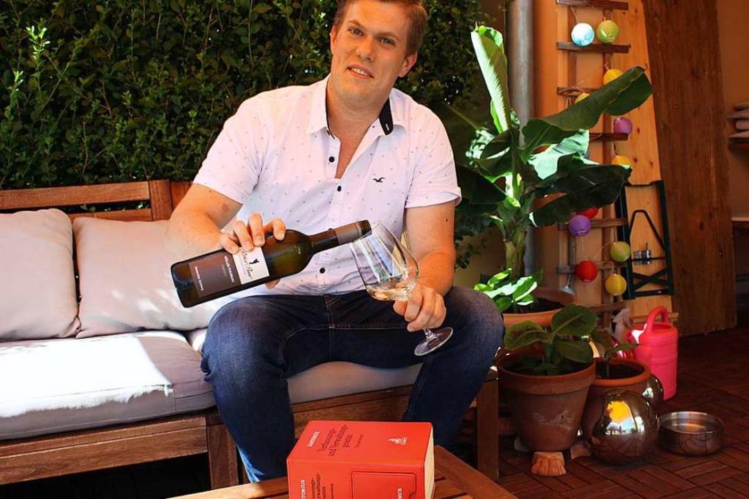 Angehender Jurist mit Liebe zum Wein: Jonas Weber   | Foto: Gabriele Fässler