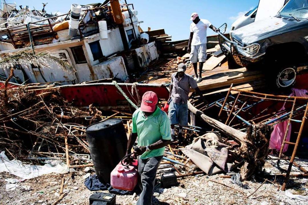 Zerstörungen auf den Bahamas nach Hurrikan Dorian  | Foto: BRENDAN SMIALOWSKI (AFP)